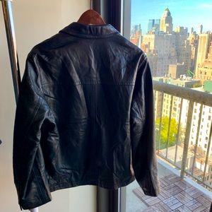 Boss Hugo Boss zipped leather jacket